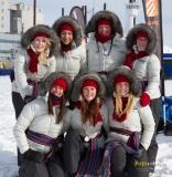 Les Duchèses du Carnaval de Québec au départ de la course.